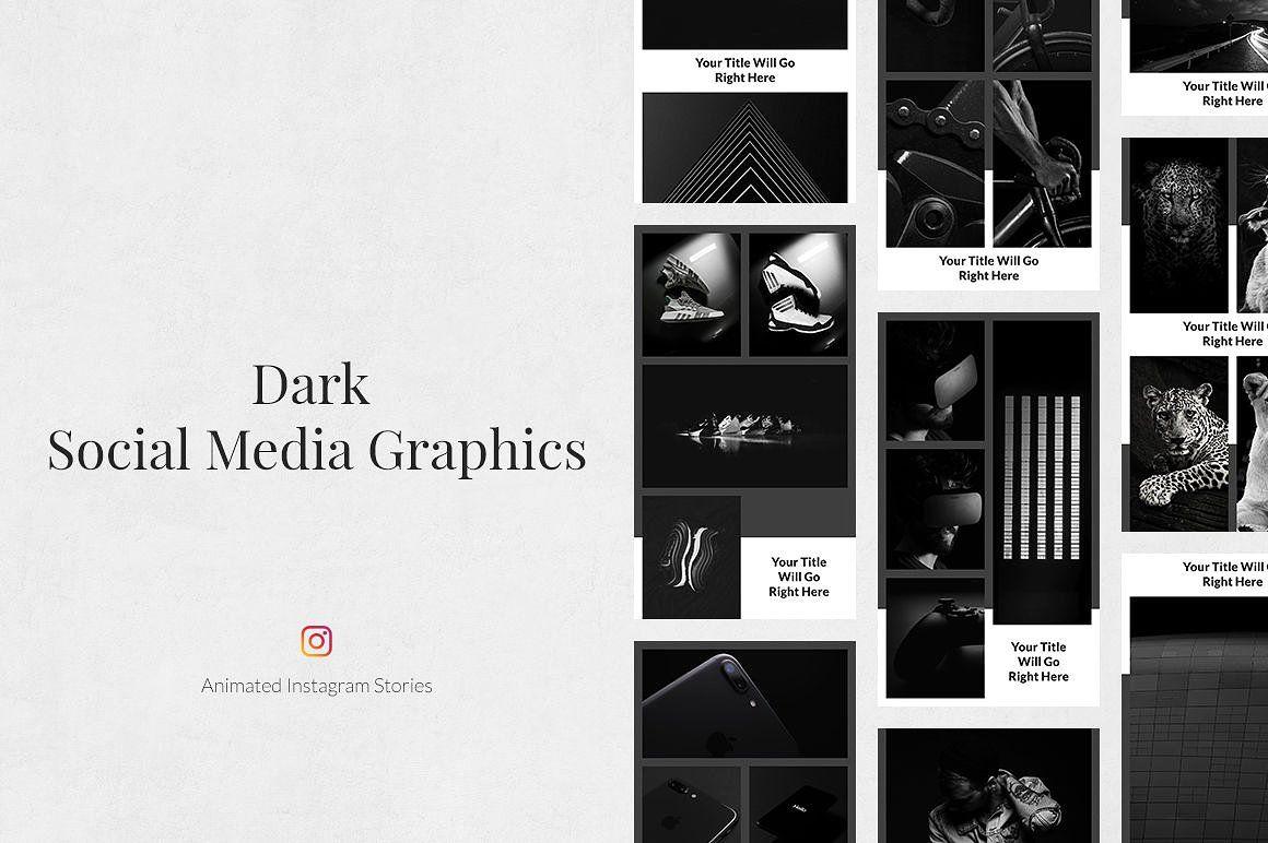 Dark Animated Instagram Stories Pinterest Templates Templates Post Templates