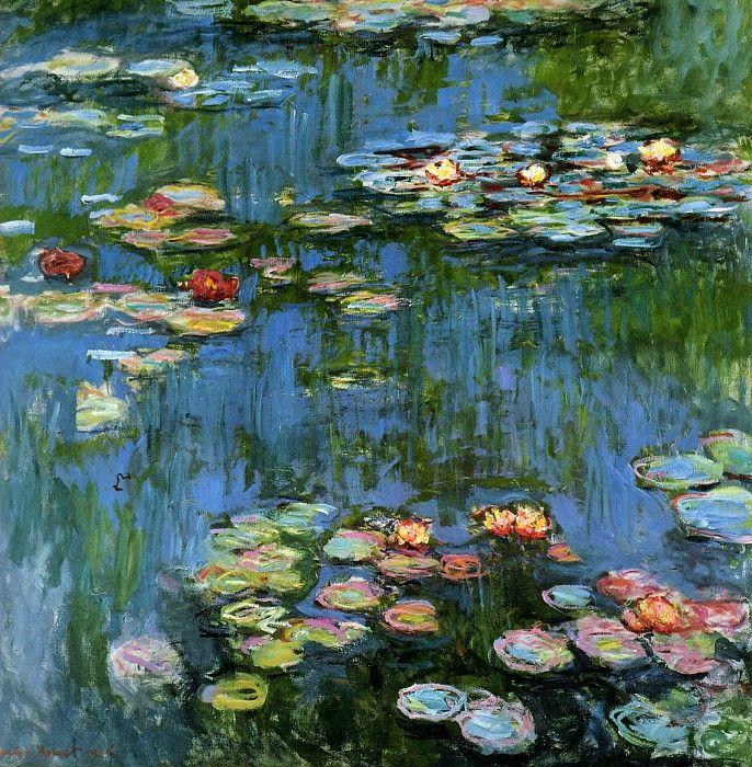 Кувшинки (Water Lilies), 1899 (живопись) - Моне Клод Оскар
