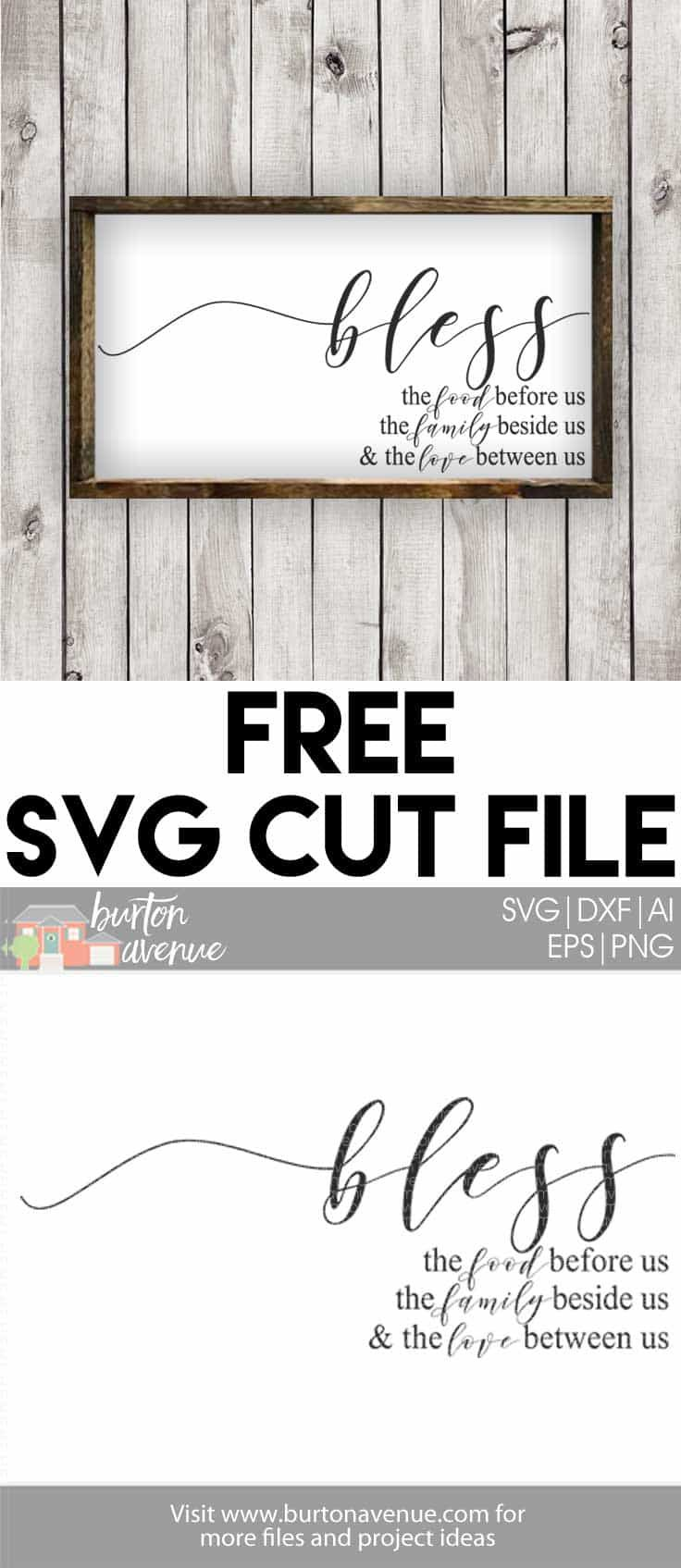 Free Svg Cut File Bless The Food Before Us Creative
