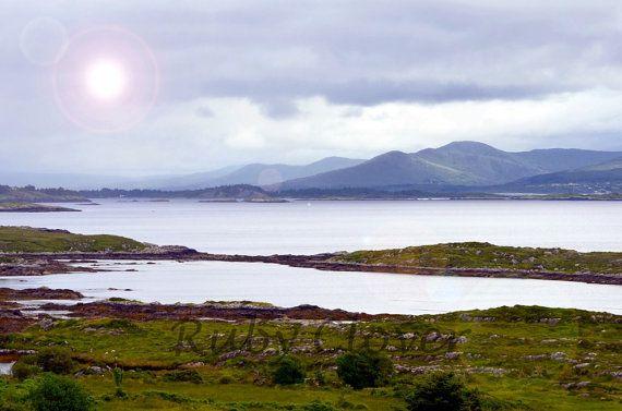 Derrynane Co Kerry Ireland Misty Morning Fog Mountain And Sea Photo Scenic Irish Landscape Photography Wi Irish Landscape Landscape Photography Sea Photo