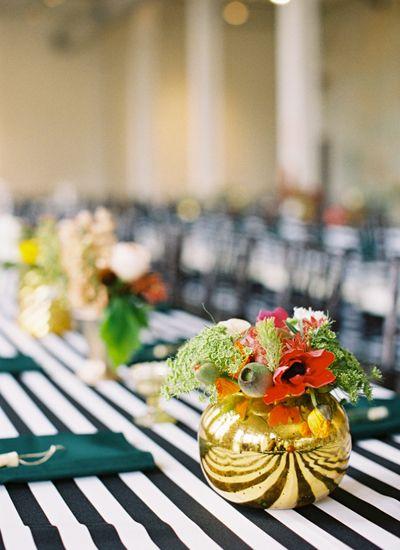 Gold + Striped South Carolina Wedding   Southern Weddings