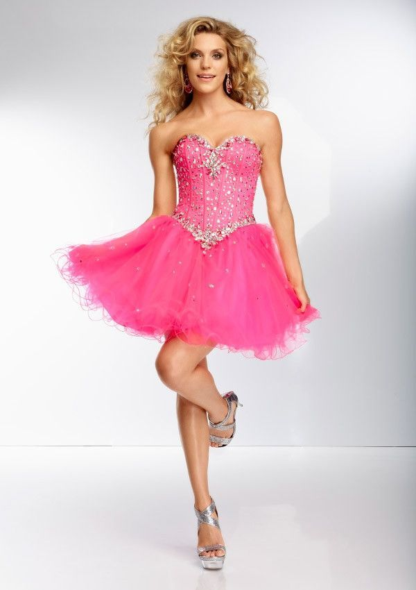 Mori Lee 9256 Pink Panther Size 20, Sale $146 | Short prom dresses ...