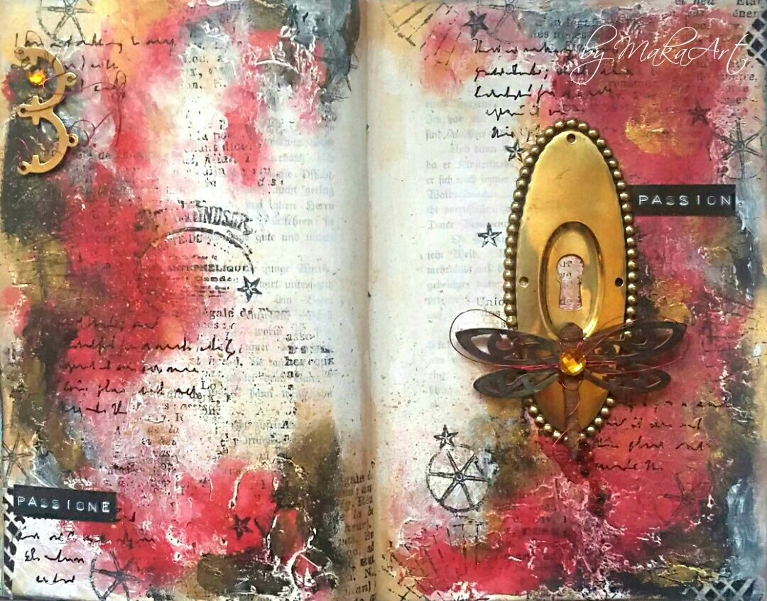 Colour therapy for relaxation - Art Journal Page Passion Welcome We Have Something In Common We Love