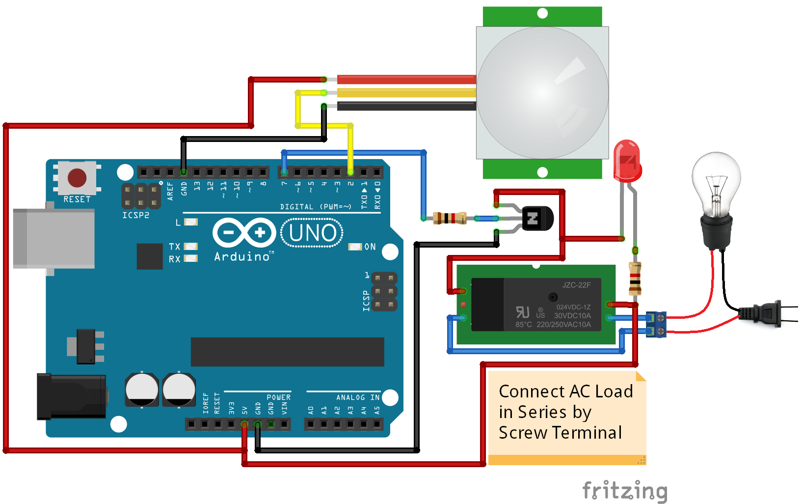 Pir Motion Sensor Light Switch Is Designed Using The Arduino To Deter The Thief Motion Sensor Pir Light Switch Motion Sensor Lights Light Sensor Motion Sensor