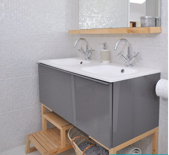 Double basin unit ikea renovation pinterest basin for Ikea double bathroom vanity