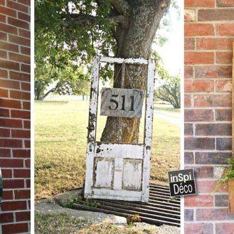 faire une plaque num ro d adresse originale 20 id es. Black Bedroom Furniture Sets. Home Design Ideas