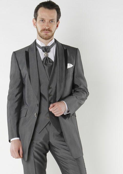2013 New Designed Short Tuxedos 100% Wool Gray Wedding Tuxedos for ...