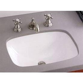 103 Cheviot Ibiza White Undermount Rectangular Bathroom Sink