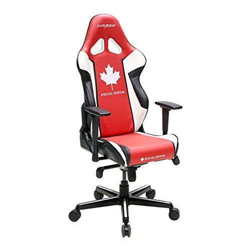 Dx Racer Canada Edition Doh Rh49 Rwn Racing Bucket Seat Office Chair Gaming