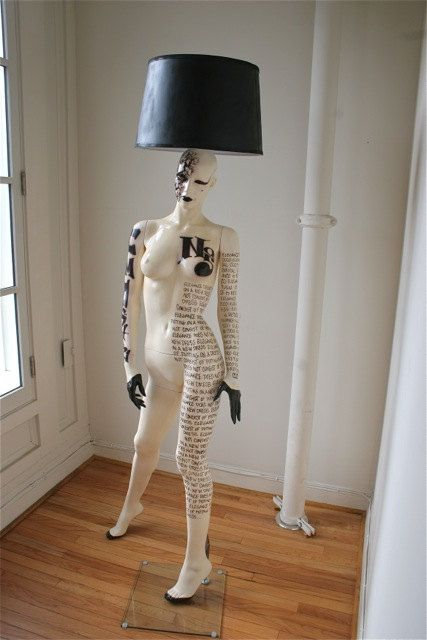 Coco Chanel Inspired Mannequin Lamp By Hardheaddesigns On