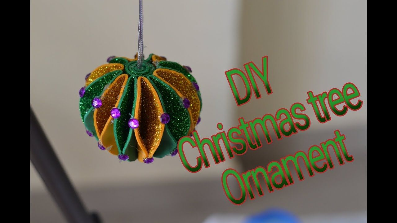 Diy Simple And Easy Christmas Tree Ornament Making Glitter Foam Sheet Diy Christmas Ornaments Easy Foam Sheet Crafts Easy Christmas Diy