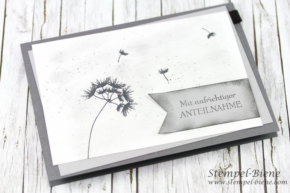 Trauerkarte mit pusteblume karte anteilnahme - Pusteblume basteln ...