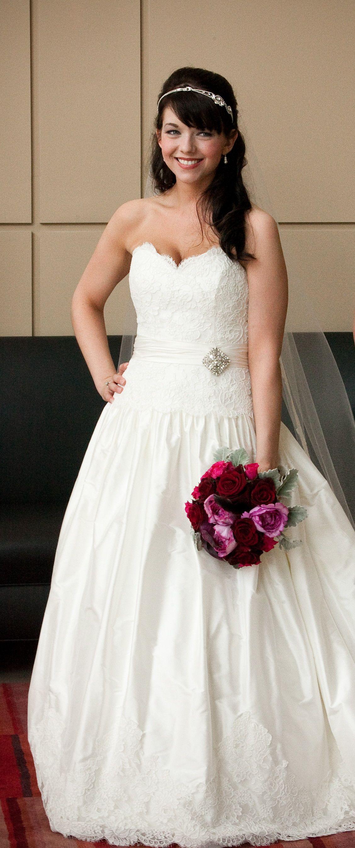 wedding hair - half up with headband and veil | wedding ideas ...