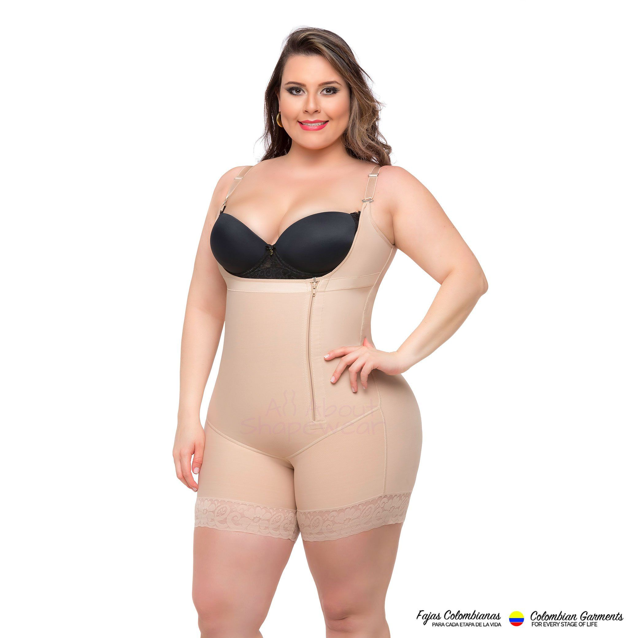 a57fb10186c0b Fajas Colombianas Shaper Short Style with Butt Lifter   Adjustable Straps -  Ref 036