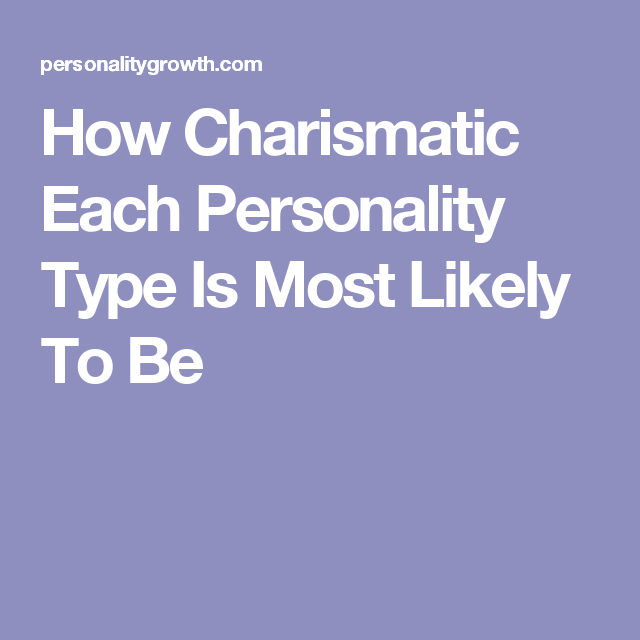 Charismatic personality types