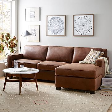 Henry Leather 2 Piece Chaise Sectional