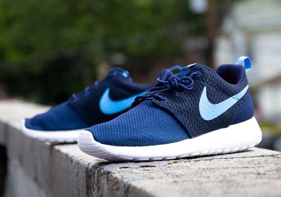 33307d787fe7 Nike Roshe Run Weave -Fuschia Force Midnight Navy (Release Date- July 2014)   kicksfever  nike  roshe
