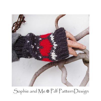 Fair Isle Crochet stitches for fingerless Gloves | FAIR ISLE KNIT ...
