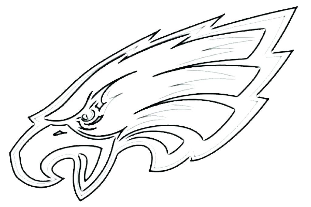 Coloring Pages Of Eagles Eagles Logo Coloring Page Eagles Coloring