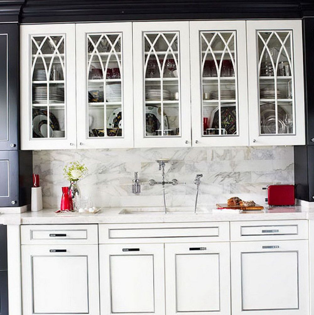 Captivating Kitchen Cabinet Doors With Glass Panels ...