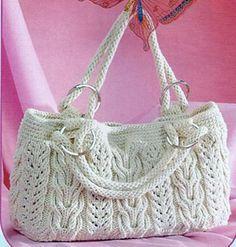 9f11f9d1c63e Схемы вязания сумки с причудливыми косами и переплетениями | вязание ...
