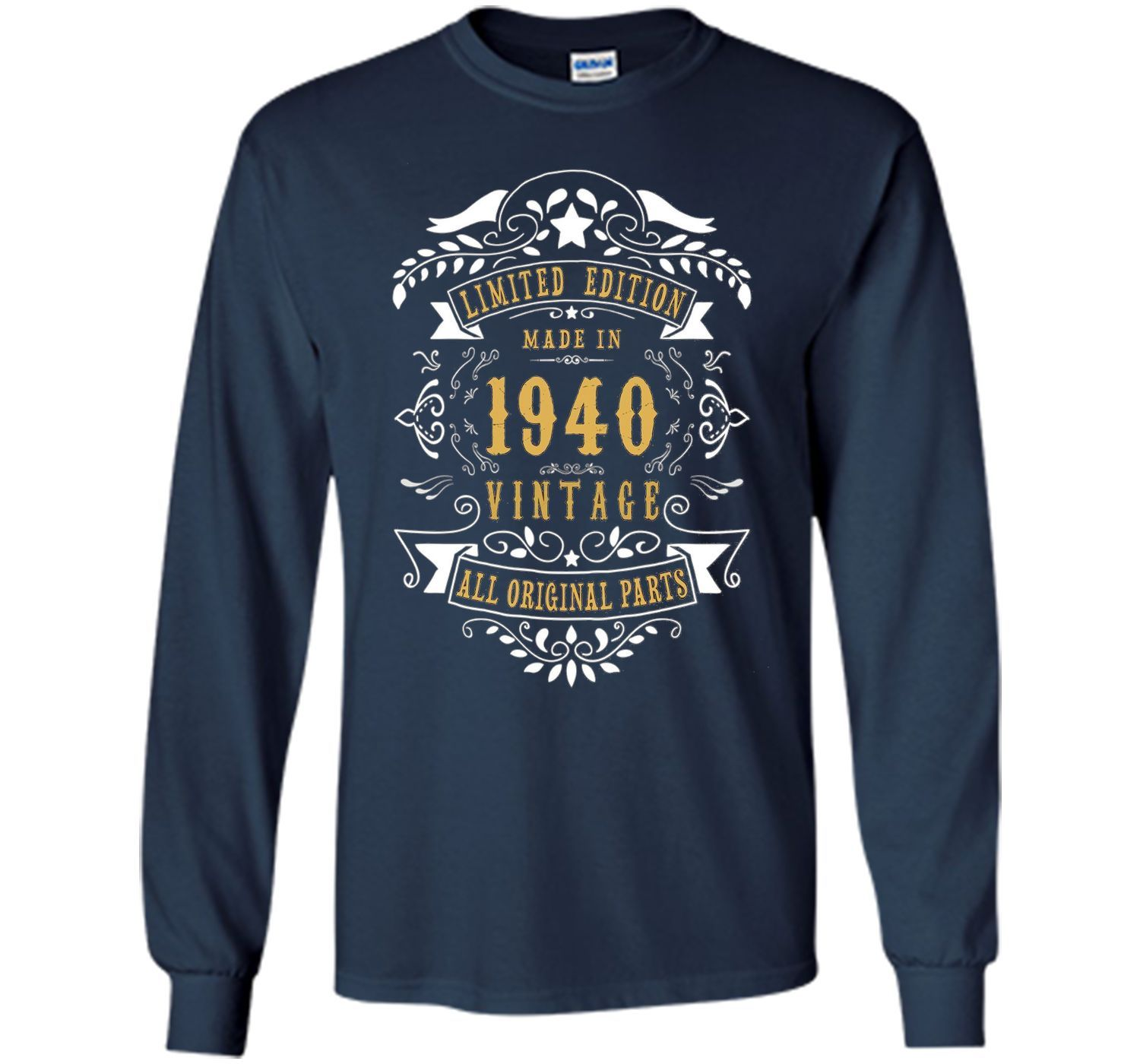 77 Years Old Made Birth In 1940 77th Birthday Gift T Shirt