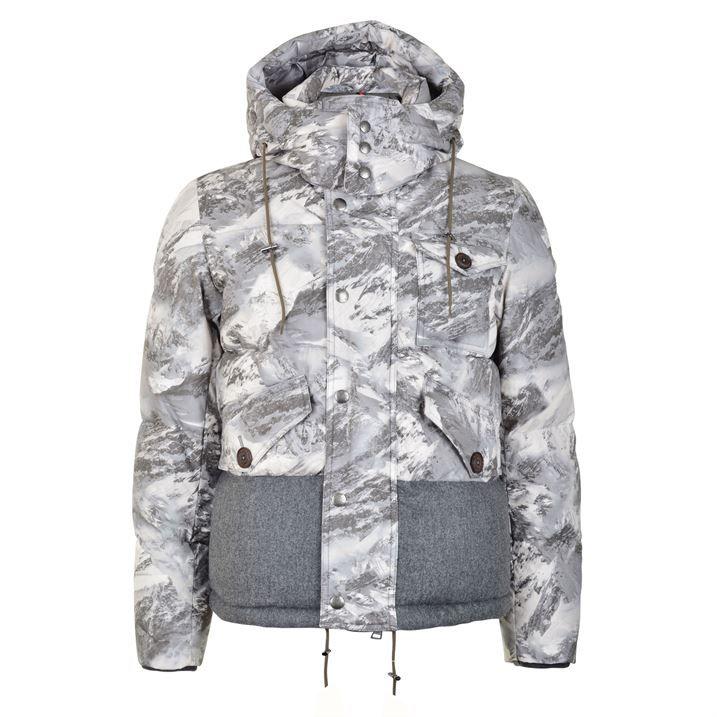 moncler white camo jacket