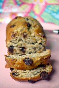 chocolate chip and sour cream banana bread (not the healthy version)
