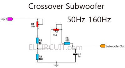 subwoofer crossover filter circuit 2019 technology. Black Bedroom Furniture Sets. Home Design Ideas