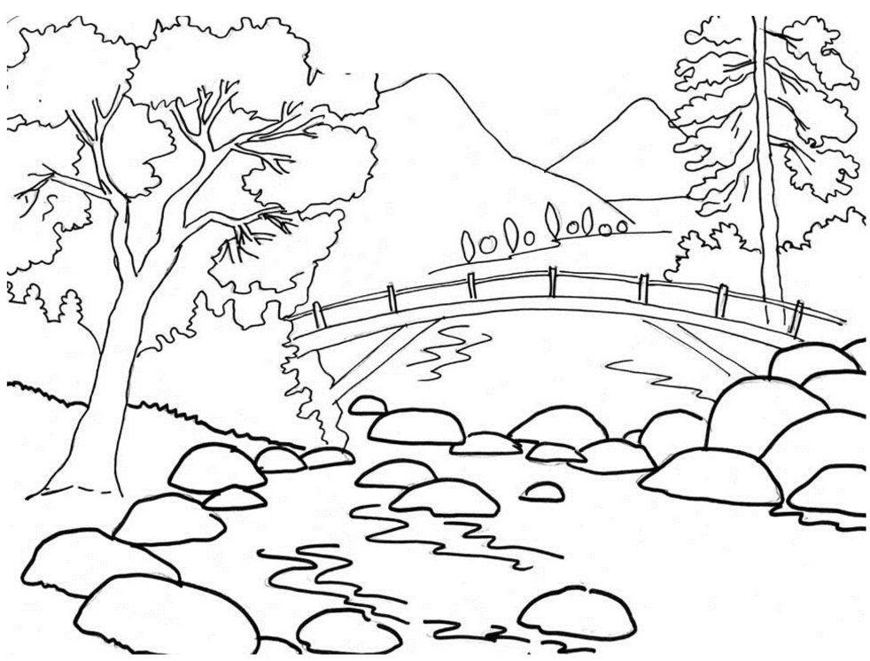 Inilah 10 Materi Mewarnai Pemandangan Alam Yang Indah 36color Raskraski Risunok Illyustracii