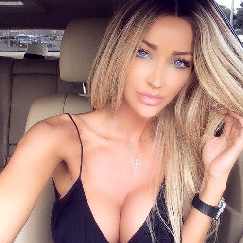 hot blonde selfie