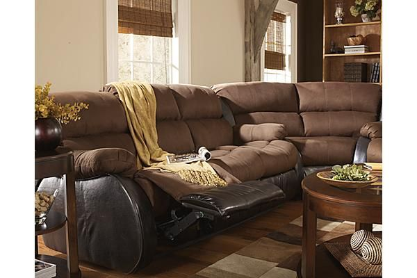 The Presley - Espresso Sectional from Ashley Furniture HomeStore (AFHS.com). The : presley sectional ashley furniture - Sectionals, Sofas & Couches