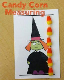 halloween math candy corn measuring halloween math preschool math. Black Bedroom Furniture Sets. Home Design Ideas
