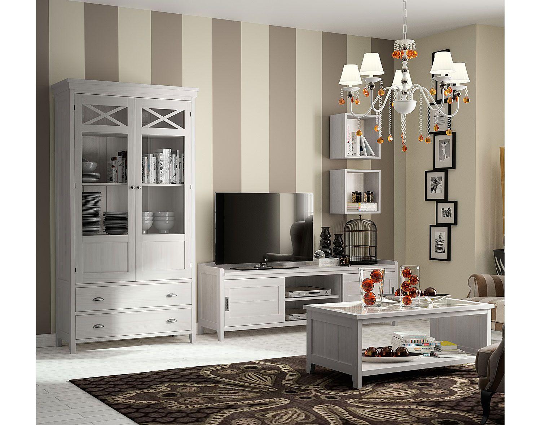 Sal n colonial blanco verona de lujo en portobellodeluxe for Muebles coloniales blanco