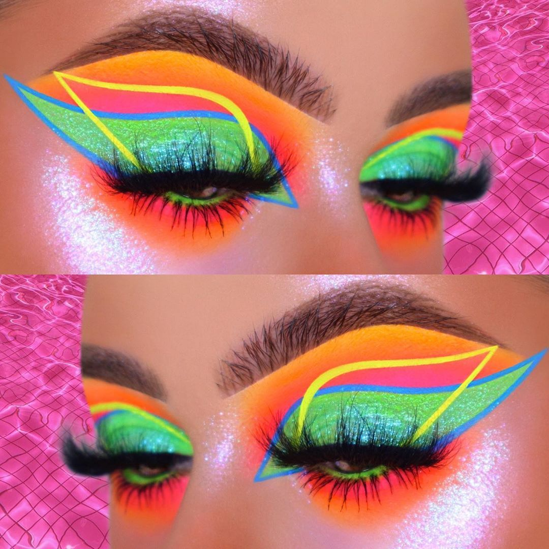 """𝕽𝖆𝖕𝖍𝖎𝖊 on Instagram: """"✨🌊🍹🔥HEATWAVE🔥🍹🌊✨ ° ° ° ✨HOPE YOU LIKE IT!💖 I remembered why I never blend with neon pigment 😭 not because it's hard but because my camera…"""""""