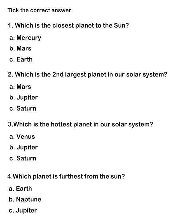 Worksheets For Grades 1 And 2 Solar System Worksheets Science Worksheets 1st Grade Worksheets
