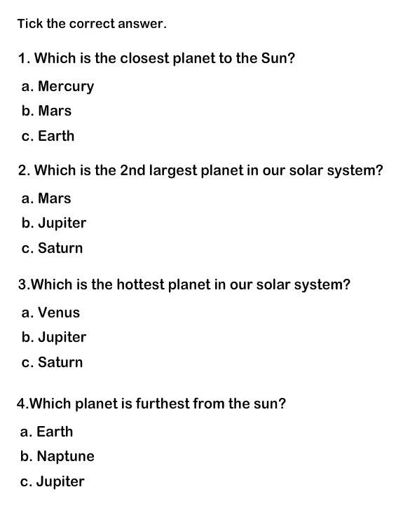 worksheets for grades 1 and 2 | Solar system worksheets