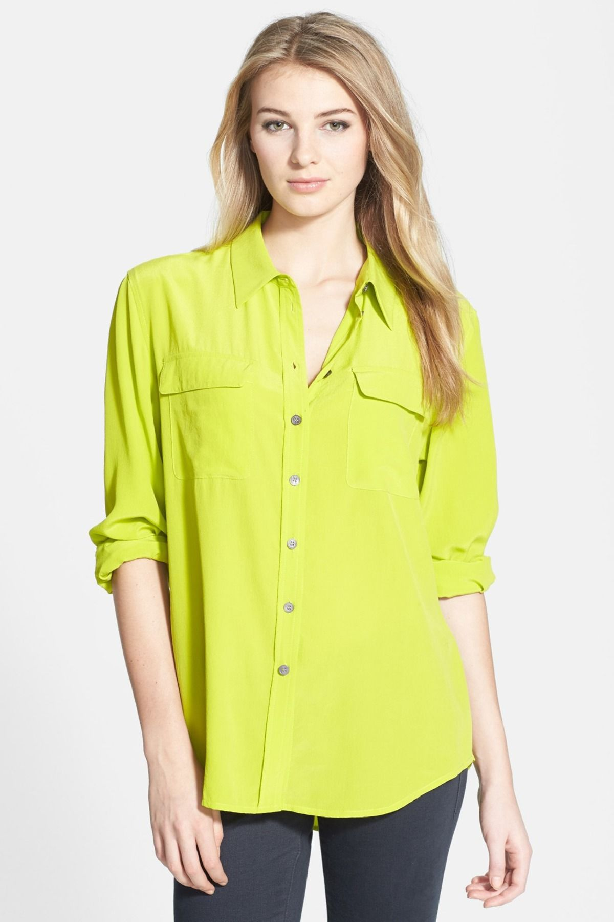 099b702efb6e68 Two by Vince Camuto Silk Utility Blouse by Two by Vince Camuto on   nordstrom rack