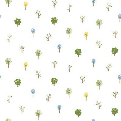 """Brewster Home Fashions Totally for Kids Perennial Arbor Toss 33' x 20.5"""" Floral Wallpaper Color: Blue"""