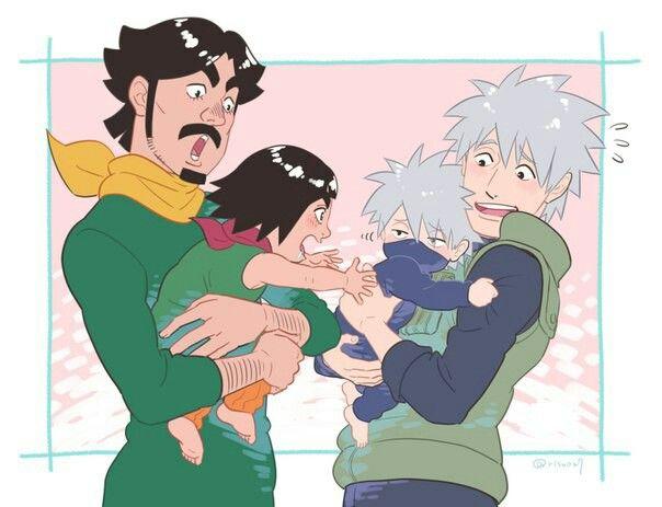 Might Dai, Might Gai, Kakashi Hatake & Sakumo Hatake <333