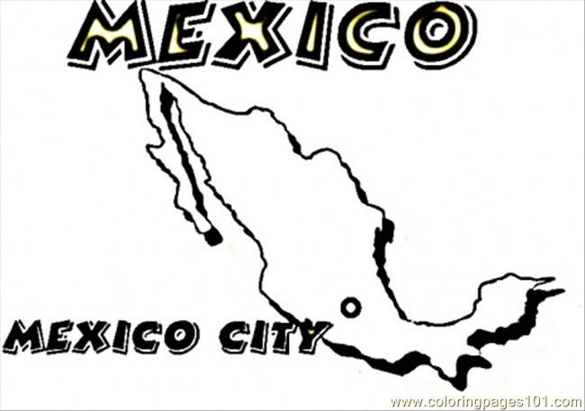 Coloring Pages Map Of Mexico Countries Mexico Free Printable Coloring Page Online Coloring Pages Super Coloring Pages Mexico