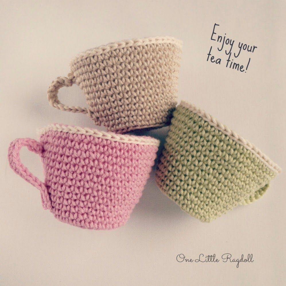 One Little Ragdoll: Teekupin virkkausohje [Tea Cup Pattern]