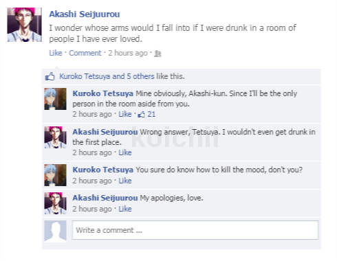 Akashi cockblocked himself.