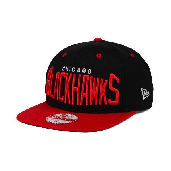 Chicago Blackhawks NHL Vintage Big Word 9FIFTY Snapback Cap (43 AUD) ❤  liked on