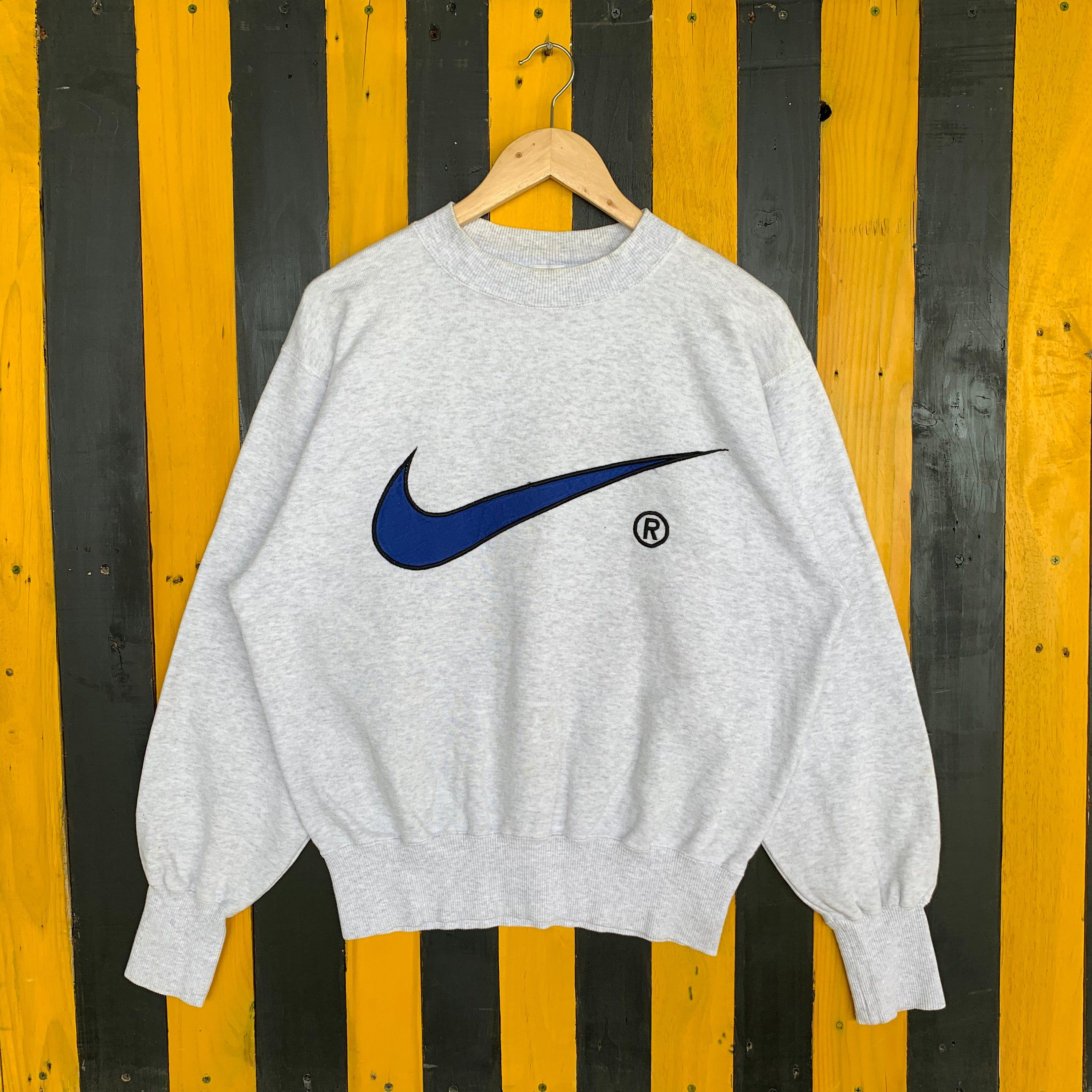 Excited To Share The Latest Addition To My Etsy Shop Vintage 90s Nike Big Swoosh Embroidery Sweatsh Vintage Hipster Outfits Sweatshirts Embroidery Sweatshirt [ 3000 x 3000 Pixel ]