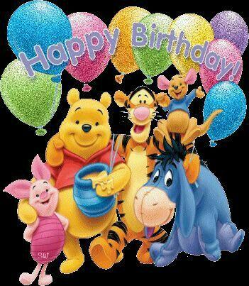 Kids B Day Winnie The Pooh Gang Birthday Birthday Cartoon Happy