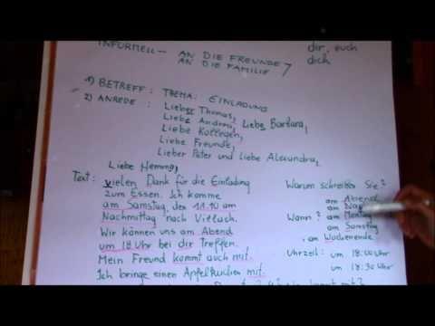 How To Write An Informal Letter In German A1 A2 Brief Schreiben