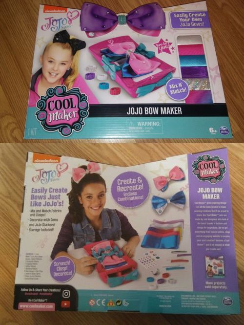 Hair Accessories 57920: Cool Maker Jojo Siwa Bow Maker Toys