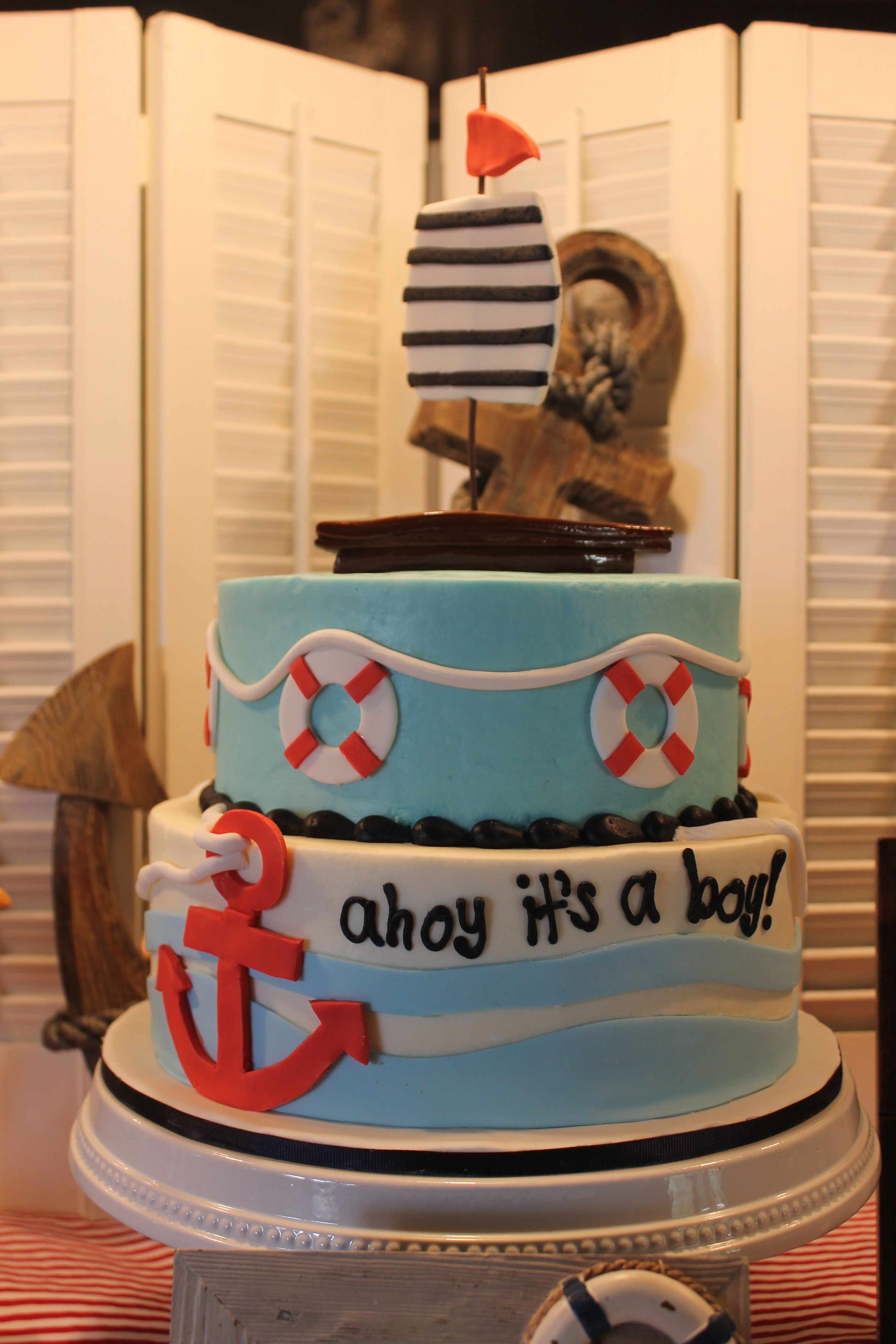 Ahoy Its A Boy Cake Absolutely Loved It Top Layer