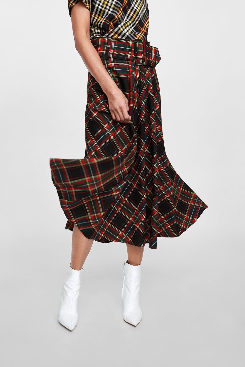 f1367447ed Plaid midi skirt in 2019   SKIRTS   Skirts, Swing skirt, Midi skirt